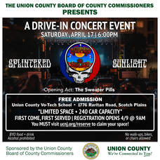 Union County to Hold Free Drive-In Concert Next Weekend
