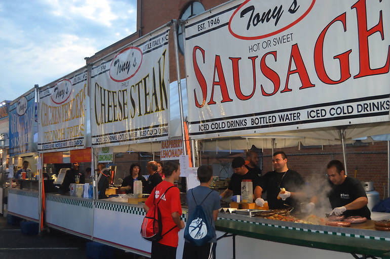 Food stands are an important part of the St. Bart's Italian Festival in Scotch Plains each year.