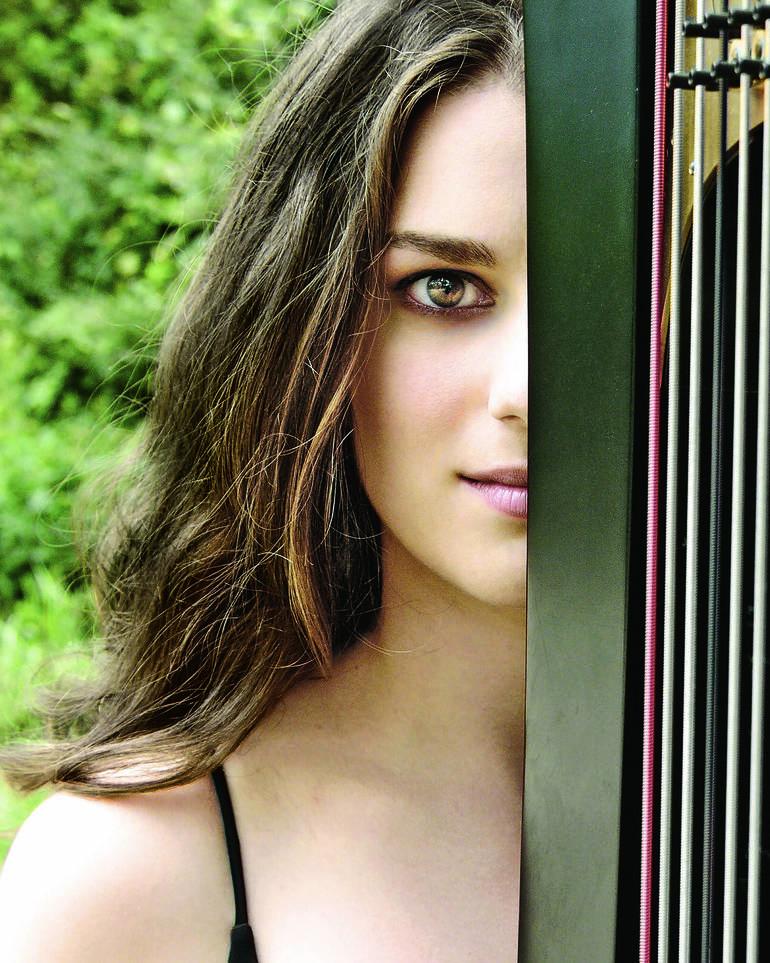 Steeple Concerts on YouTube will highlight harpist Bridget Kibbey on Sunday, January 24th
