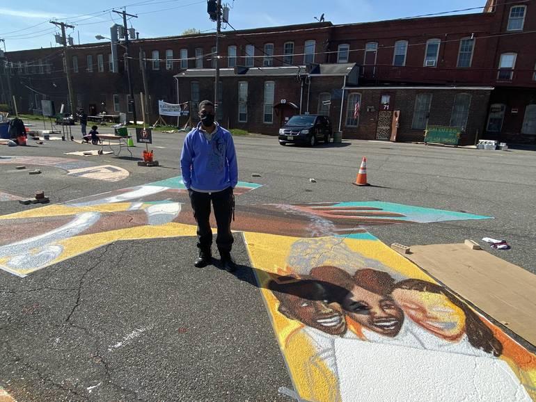 Newark Artists Bring Vision to Massive 'Black Lives Matter' Mural in East Orange