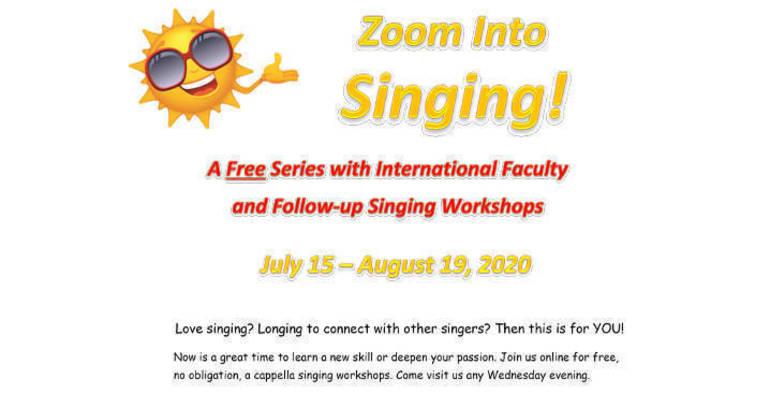 Local Chorus Offers Free Singing via Zoom