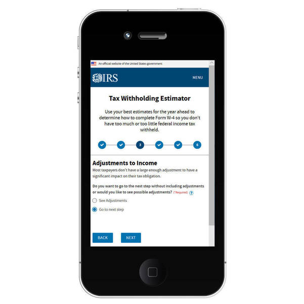 Online tools at IRS gov help people stay current (Third