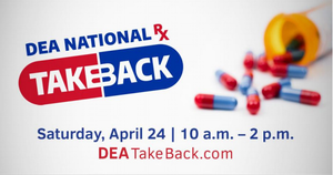 Operation Take Back will Take Place at 4 Locations Near Morristown on April 24th