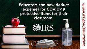A tip for teachers: Some educator pandemic related expenses may be tax deductible