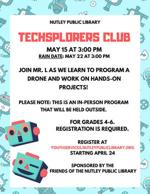 Techsplorers Club at Nutley Public Library