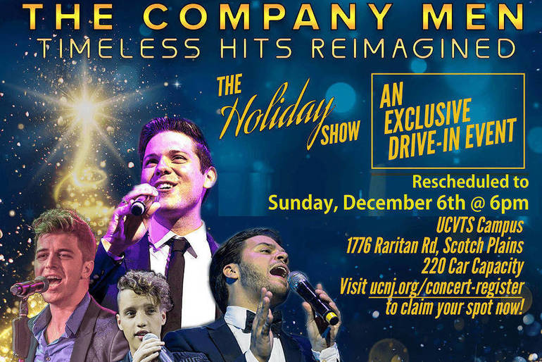 Drive-Up Area Holiday Concert with 'The Company Men' Rescheduled for Dec. 6