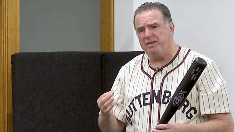 Public Speaking and Sales Training Expert Tommy Hilcken Discusses His Career Over a Game of Indoor BaseBall