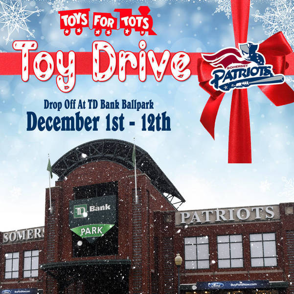 Holiday Toy Drive At TD Bank Ballpark December 1st - 12th