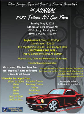 Totowa Car Show, Totowa NJ, Totowa Recreation