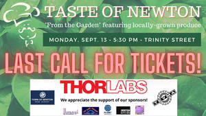 Last Call for Tickets to A Taste of Newton