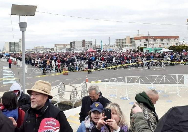 President Trump Holds Rally in Wildwood, New Jersey
