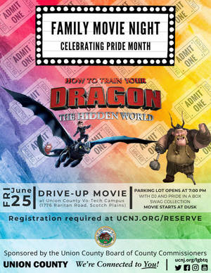 UC PRIDE Family Movie Night Screening of How to Train Your Dragon: The Hidden World on June 25
