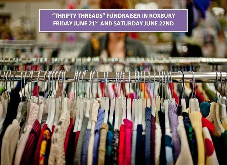 """""""Thrifty Threads"""" clothing sale"""
