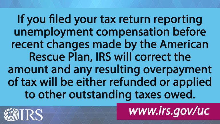IRS to recalculate taxes on unemployment benefits; refunds to start in May