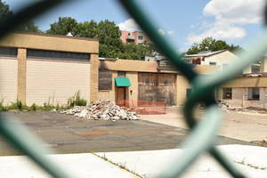 The site of 61-99 West Grand St. in Elizabeth is seen Friday, July 23, 2021.