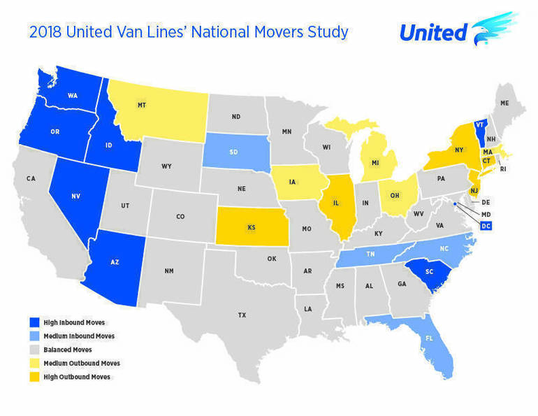 IL is among top states for outbound moves