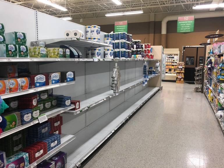 Paper Towels, Toilet Paper Flying Off Shelves Again In Local Stores