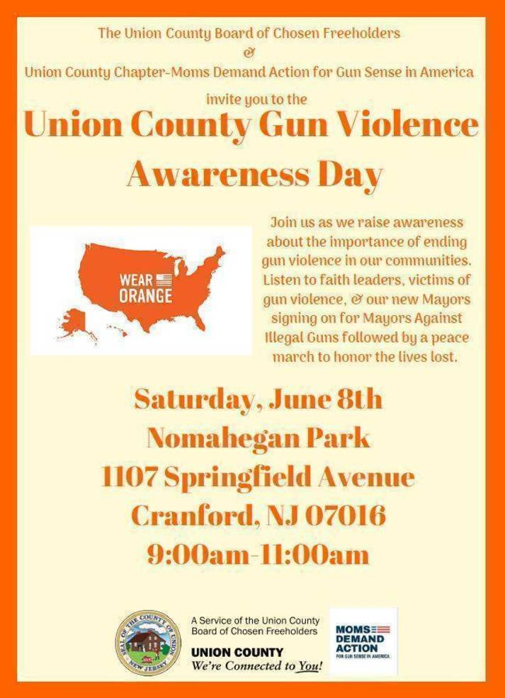 Union County Sponsors Rally and March in Support of Gun Violence