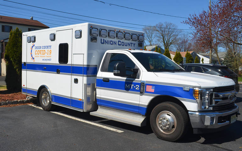 Union County Mobile COVID unit at St. John's Baptist Church in Scotch Plains.