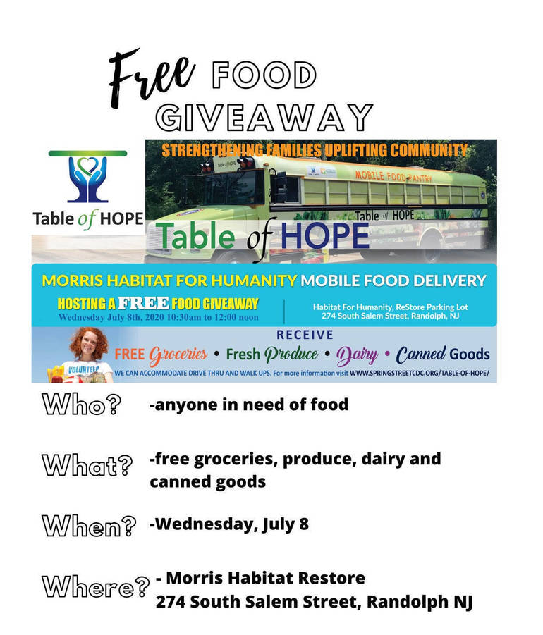 Morristown's Table of Hope Offering Free Food To Anyone In Need