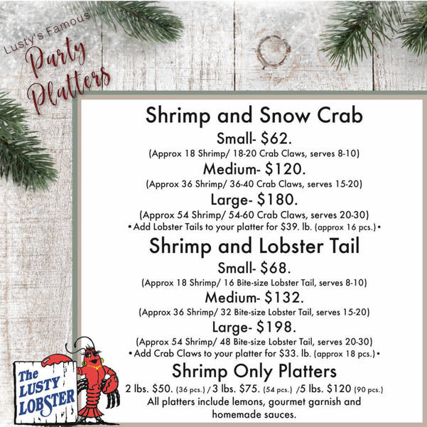 Have a New Year's Seafood Festival by The Lusty Lobster