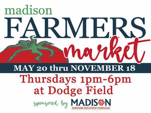 Madison Farmers Market is Thursday, July 22