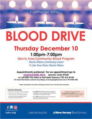 Morris Area Community Blood Program Hosting Blood Drive; Dec. 10