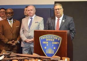 Carousel image ef9f0a9518a8d4dc4bce cbdff90b5f276f5423fa aa8cbf29803b183e9bc5 union county commissioner chair al mirabella speaks at gun buy back event