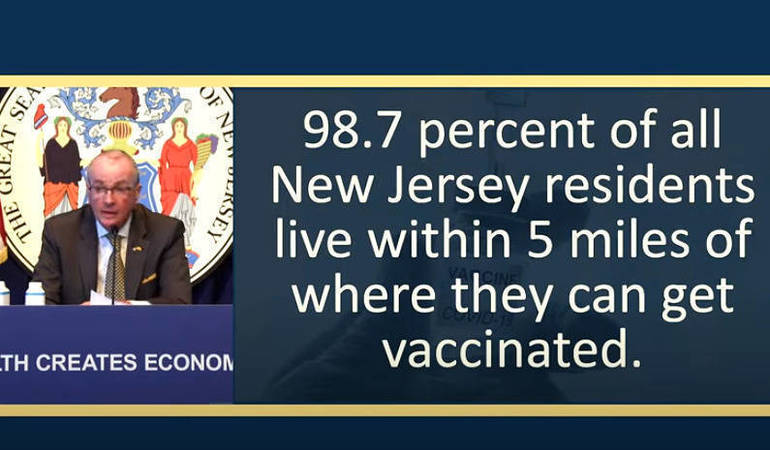 Murphy Announces All Individuals Ages 16+ Will be Eligible for Vaccination on April 19, Reports Latest COVID Figures