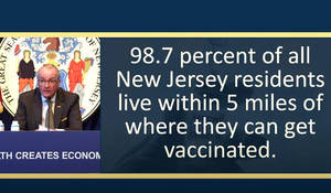 NJ Individuals Ages 16+ Will be Eligible for Vaccination on April 19, Murphy Says
