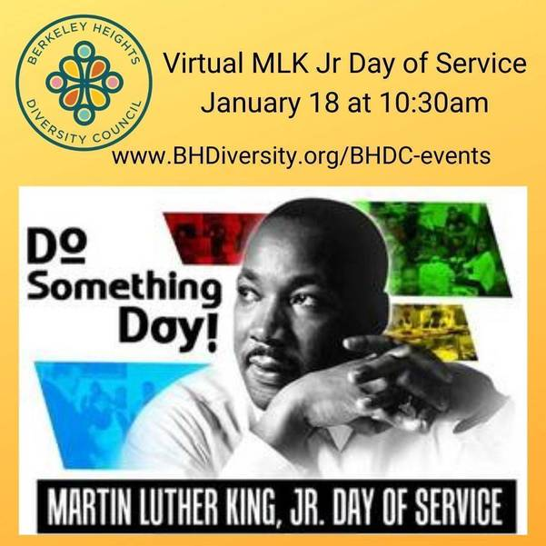 Berkeley Heights Diversity Council Offers Service Opportunities for Sixth Annual BHDC Martin Luther King Jr Day of Service