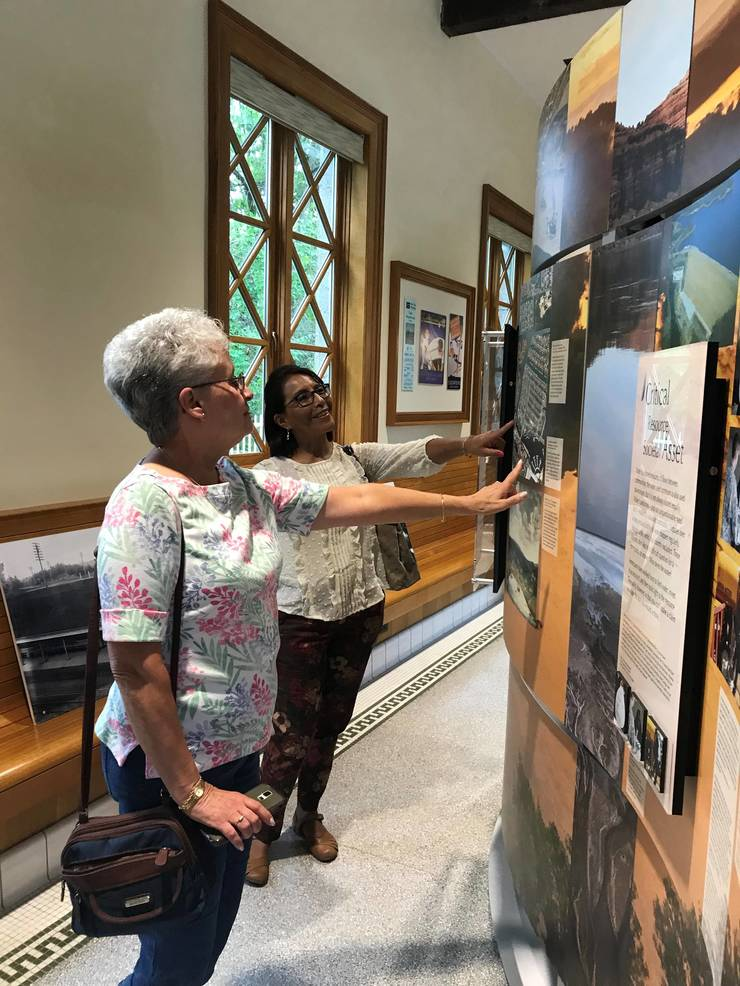 """Visitors enjoying the interactive """"WaterWays"""" exhibit on view at the Lake Hopatcong Foundation Environmental and Cultural Center through August 10..jpg"""