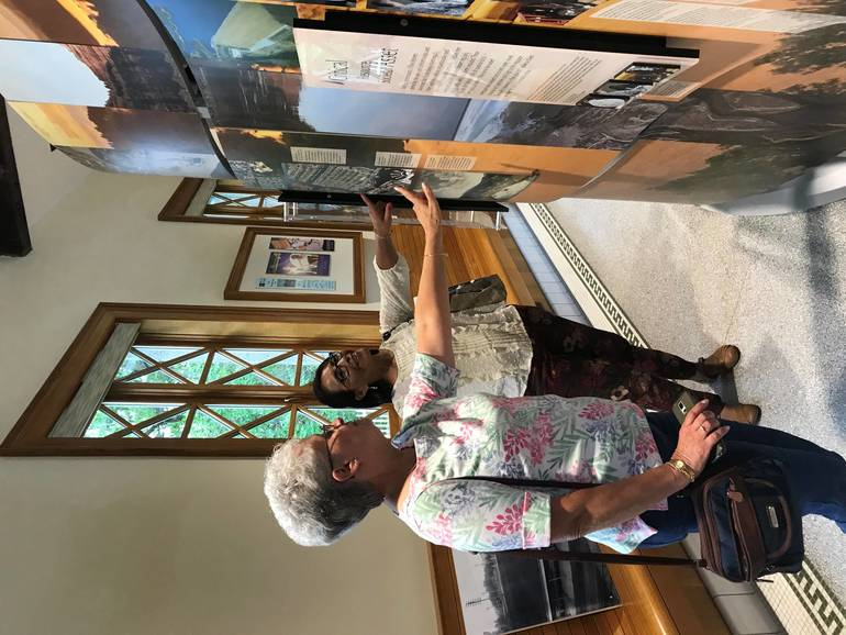 "Visitors enjoying the interactive ""WaterWays"" exhibit on view at the Lake Hopatcong Foundation Environmental and Cultural Center through August 10..jpg"