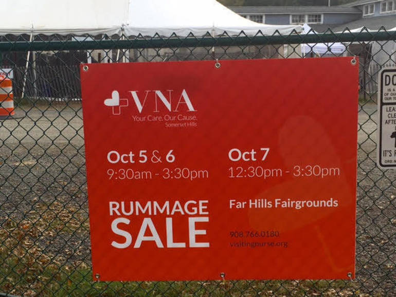 VNA Rummage Sale sign