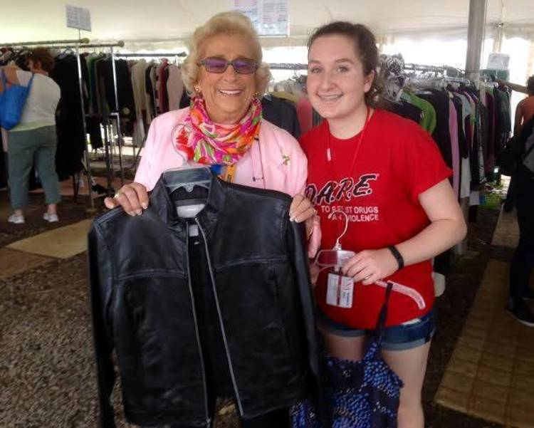 Volunteers make the sale possible