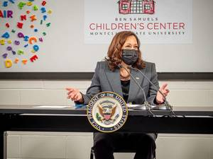 Vice President Harris Talks Child Care Funding, Vaccinations During New Jersey Stops