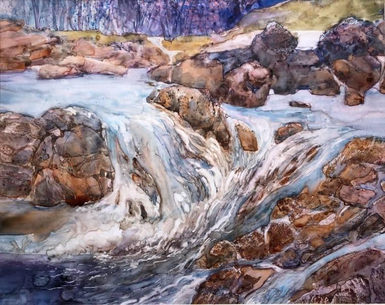 Waterfall by Judith Hummer of Bridgewater.jpg