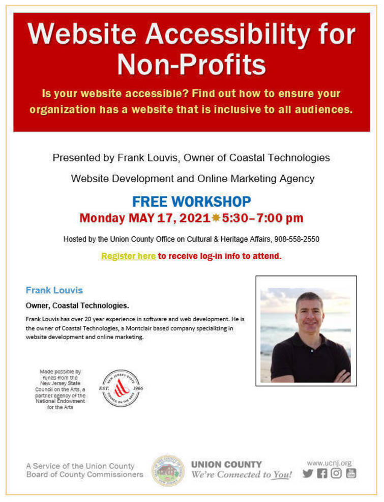 Union County Non-Profits Invited to Free Virtual Workshop on Website Accessibility
