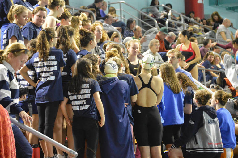 Westfield coach Steve Whittington speaks to his team before the meet..png