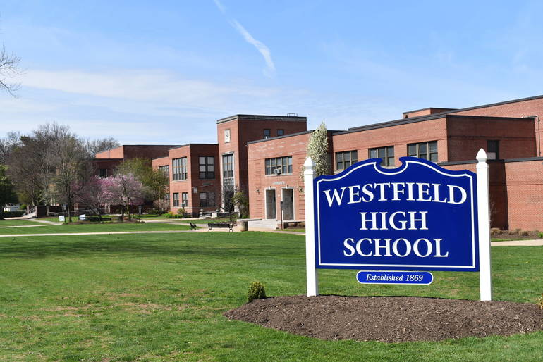 westfield high school sign photo
