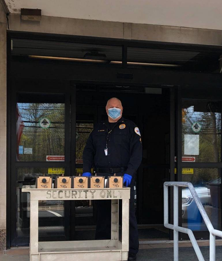 Security Accepting Queen City Coffee Donations