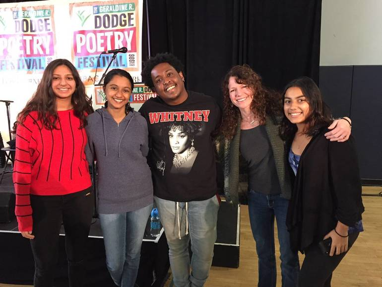 WH students and Danez Smith.JPG