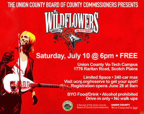 WildFlowers will Perform a Tom Petty Tribute in Union County July 10
