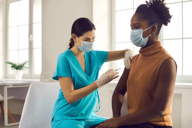 Woman Receiving Vaccine 2