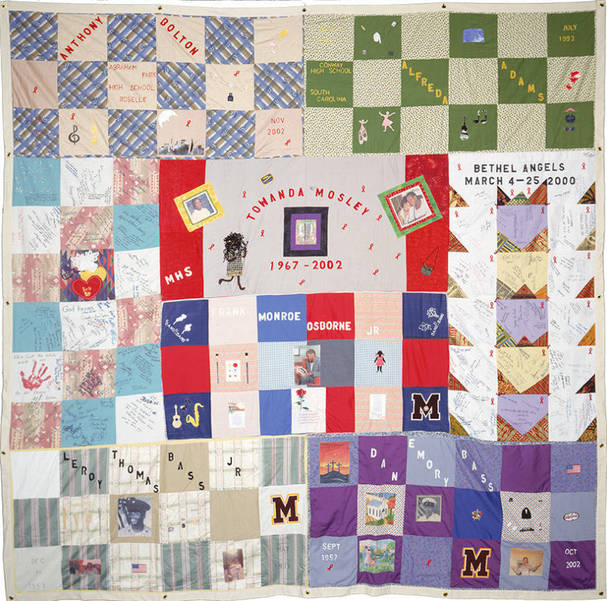 Sorority Local Chapter and Church Ministry Sponsor AIDS Memorial Quilt