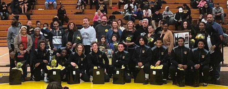 Wrestling Senior Night 1-22-19 credit Mary Mikita cropped.JPG